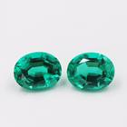 Hight Quality Fashion Jewelry loose Stone Colombia Synthetic Emerald for women Earrings