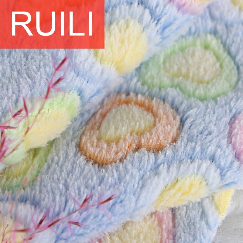 Double sides 3D printing coral fleece fabric for pets mat