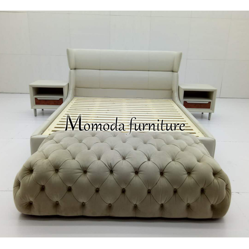 Product Detail Mmd B 1 Hotel Bedroom Sets White Half Leather Contemporary Simple Good Price Best Quality Double Comfortable Bed For Villa Home Djimart