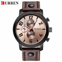 CURREN Мужские часы модные военные кварцевые часы для мужчин Топ Бренд роскошные кожаные спортивные наручные часы Мужские часы Relogio masculino(Китай)