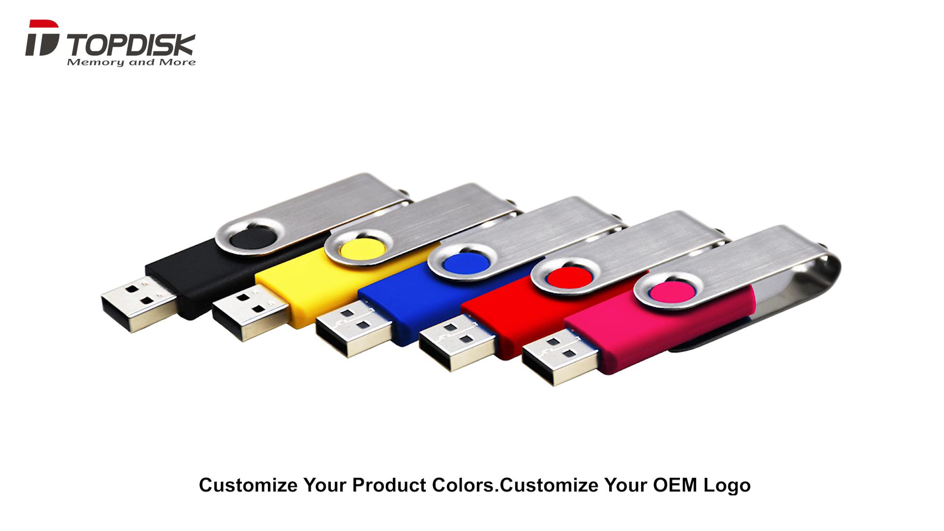 Topdisk Custom 1GB 2GB 4GB 8GB 16GB 32GB 64GB 128GB 256GB 512GB  Memoria  USB Stick Memory Disk Pendrive USB Flash Drive