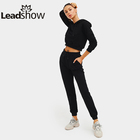 Track Plus Size Sexy Sweat Shirt High Waist Pants Shorts Fashion Fleece Gym Girl Blank Custom Women Jogger Tracksuit Sets