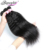 Afro Kinky Straight Indian Remy Virgin Human Hair Weft Yaki Kinky Straight Hair With Lace Closure