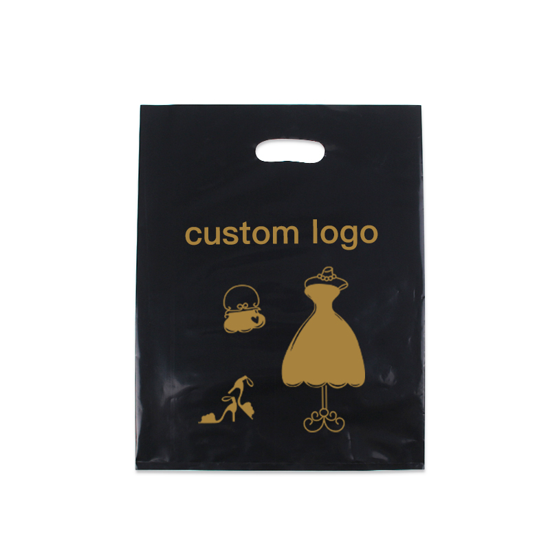 Chinese suppliers Wholesale Die Cut Handle Eco-Friendly Custom Design Shopping Gravure Printing Groceries Plastic Bags With Logo