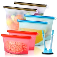 Benhaida 500ml 1000ml 1500ml BPA free Leakproof Fresh Vacuum Ziplock Reusable Silicone Food Storage Bag