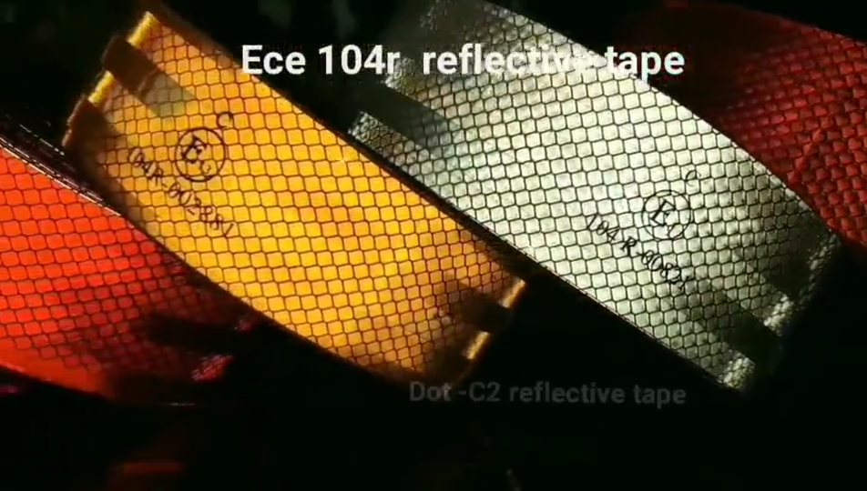 Hotsale 3m diamant grade e1 ece 104r 00821 rot fabrik auto reflektor reflektierende folie band 5mm rollen aufkleber für fahrzeug
