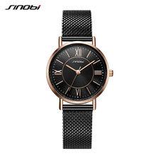 Sinobi элегантные женские часы Классический стиль Японский кварцевый механизм 30 мм Тонкий циферблат часы для женщин Прямая поставка Reloj Mujer(China)