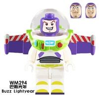 HOT SALE! WM294 Buzz Alien Woody Froky Toy Story 4 mini action figures Building Blocks Toys Children giftingsly