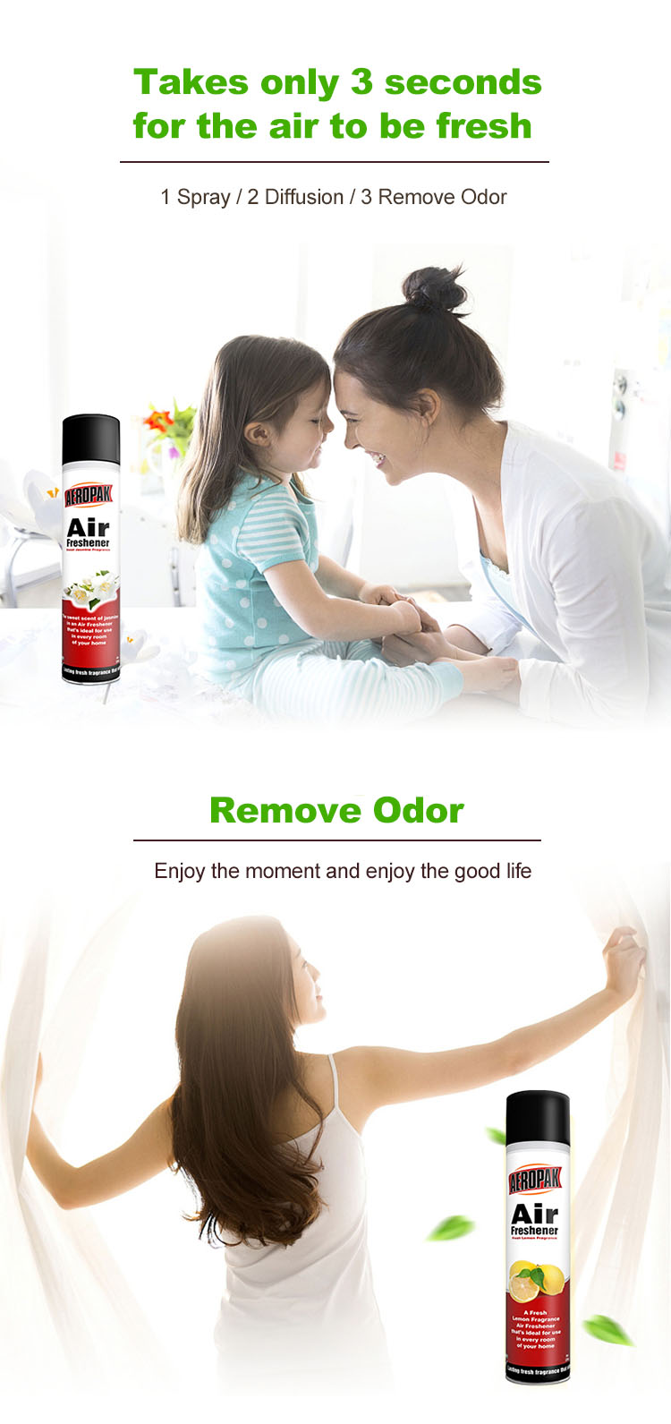 Aeropak Room Air Freshener Perfume Spray