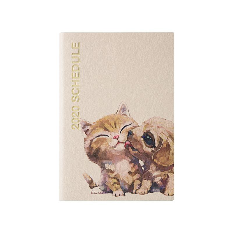 Kawaii повесток 2020 планировщик Органайзер A7 Еженедельный ежемесячный дневник блокнот и журнал Симпатичные кошки и собаки записная книжка кор...(Китай)