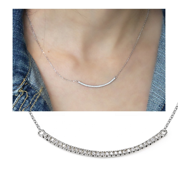 Beautiful Chain Pendants <strong>Fashion</strong> Accessories Zircon Bar Ladies' Necklace Link Iced Out Jewelry