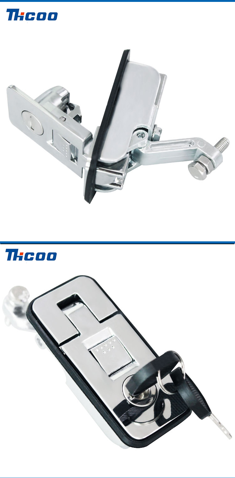 car handle lock zinc alloy trigger latch keyless non lock locking with mounting  safe lock cylinder