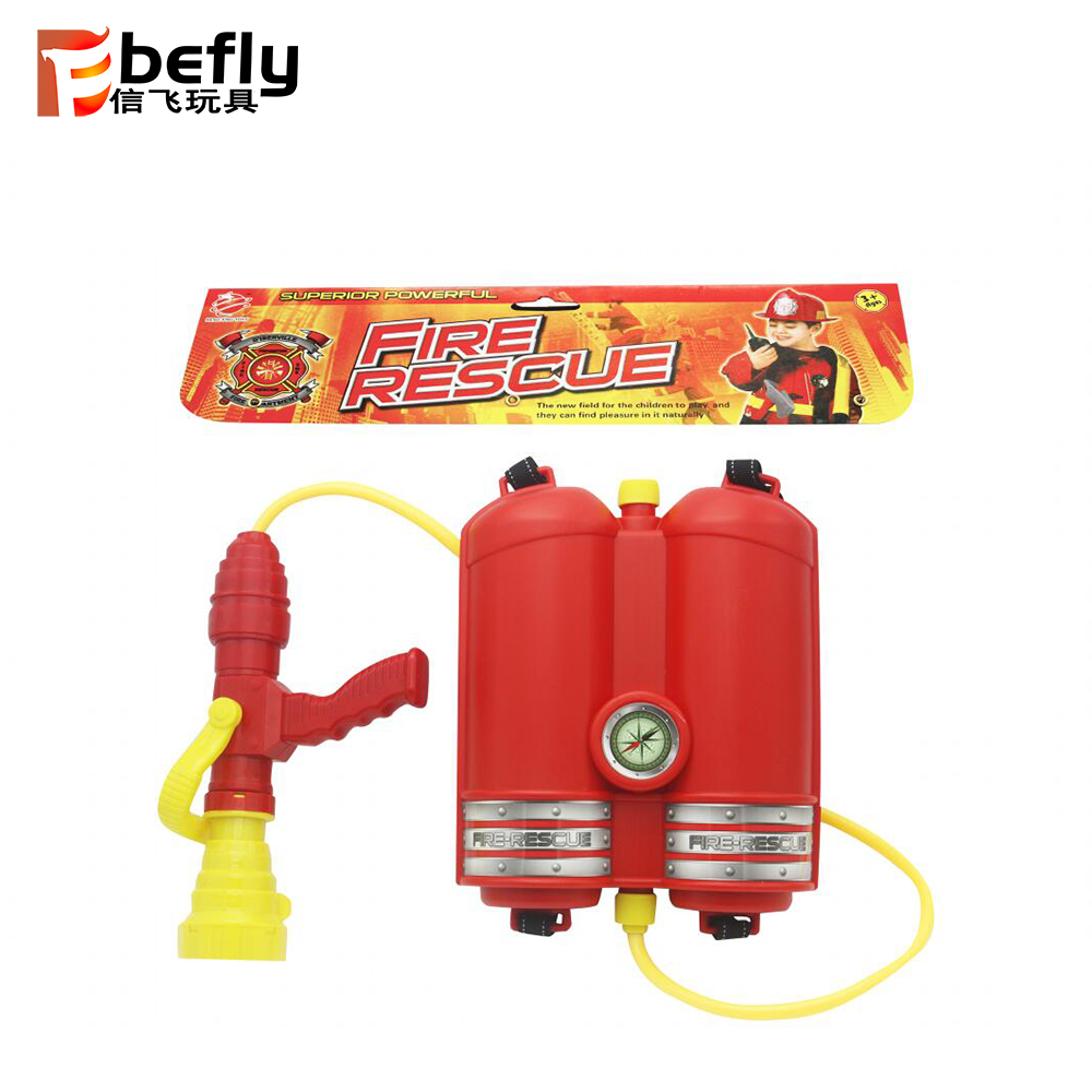 Pretend play firemen toy plastic backpack water gun for kids 2020 summer