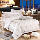 Taitang Hotel Printed Bed Linen Beautiful Luxury Bed Cover Sheet Bedding Set King Size