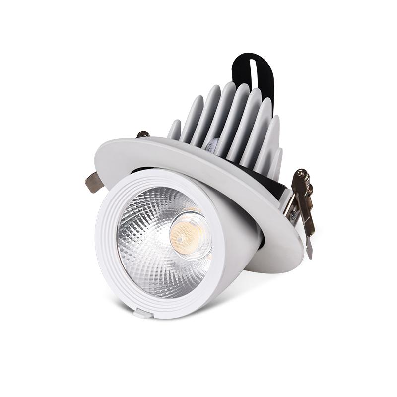 15w 18w COB round recessed remote control bluetooth dimming anti-glare clothes furniture shop office led mini spotlight