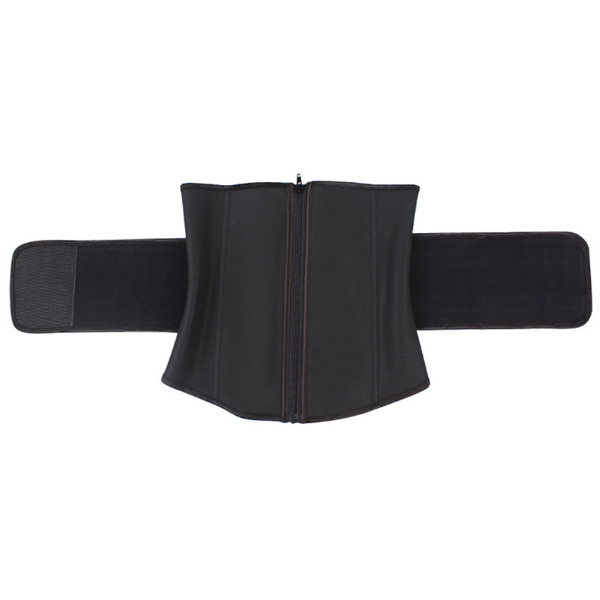 Women Men Custom Logo Abdominal High Compression Waist Trimmer 7 Steel Boned Waist Trainer Body Shaper for Male and Female