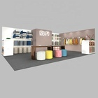 IZEXPO 30mins EASY setup GIRL portable 20x30ft trade fair stand exhibition booth design