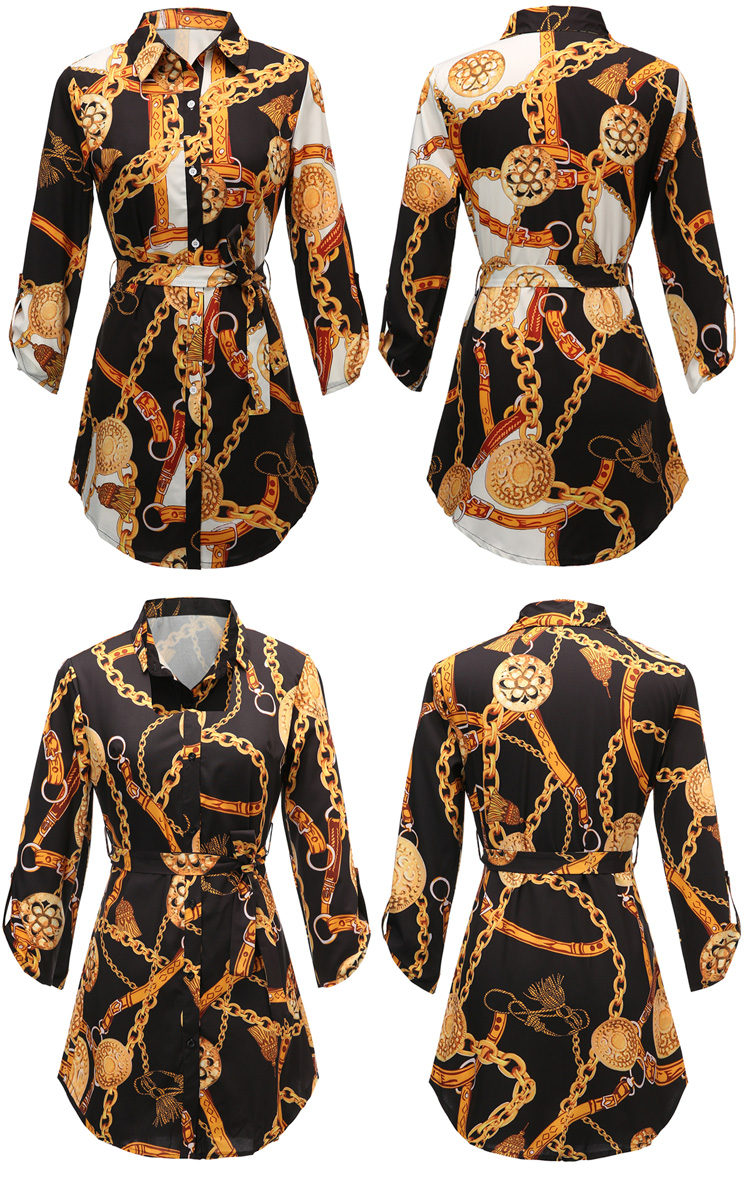 New style women tops & blouses printed long sleeve plus size Euramerican hot style ladies shirt for Spring and Autumn