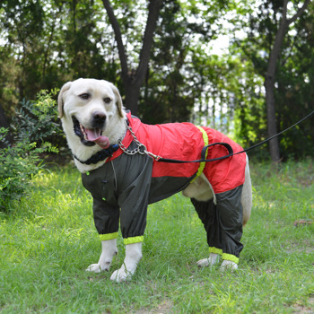 Lovoyager Summer Fluorescence Color Waterproof Fashion Dog Raincoat Pet Clothes dog Rain coat