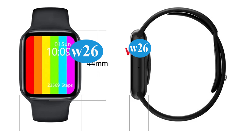 "New Products w26 Smartwatch BT Call ECG  1.75"" Iwo 13 14 Full Touch Magnetic Charging Removable Ip67 Waterproof w26 Smart Watch"