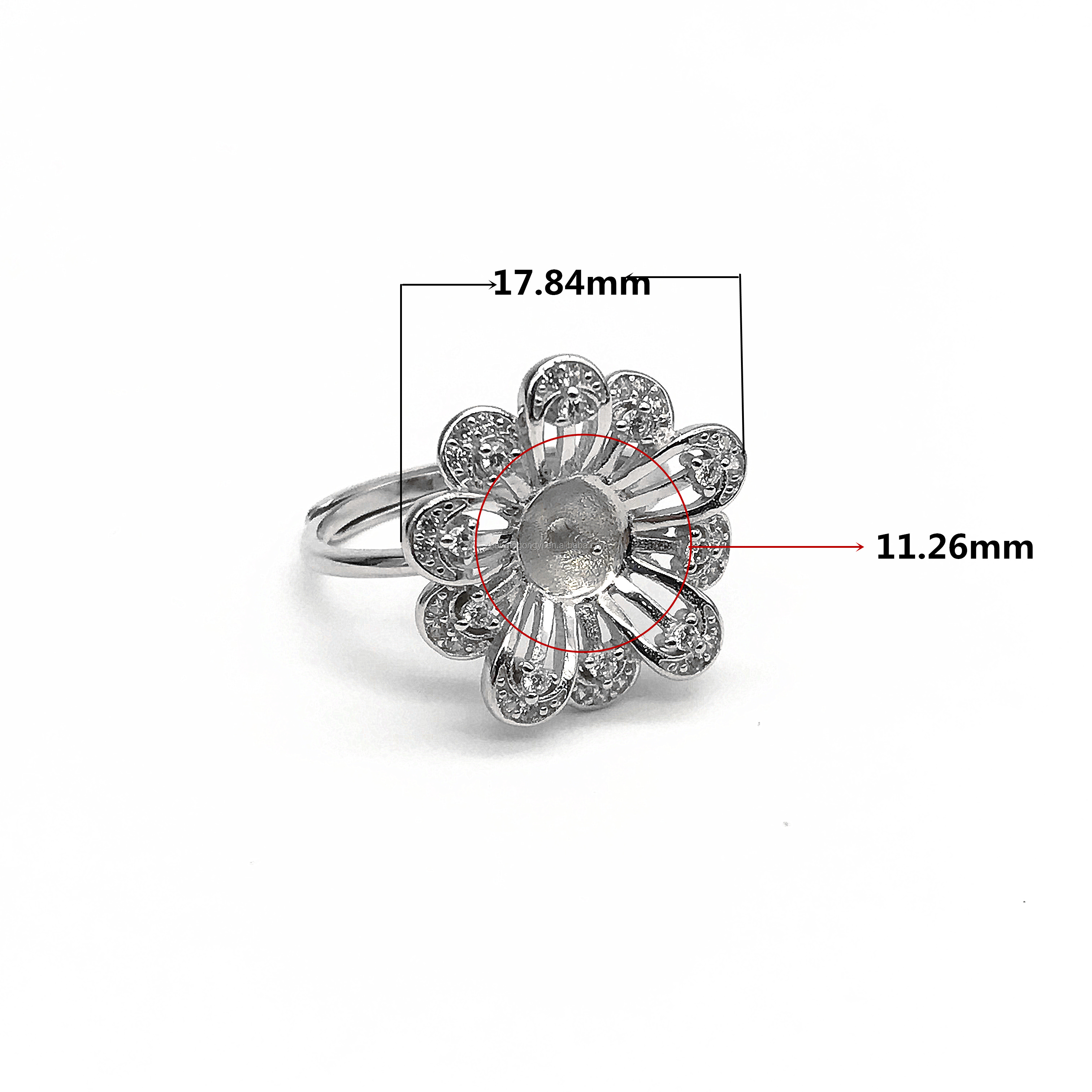 Manufacturer Price Women Finger Jewelry 925 Sterling Silver Ring Mounting for Pearl