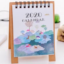 Настольный мини-календарь с милыми мультяшными животными, 8 стилей, школьный офис, кавайный планировщик, настольный календарь, Новое поступ...(Китай)