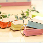 Paper Rings Paperpaper Index Cards Multicolor Kraft Paper Easy Flip Study Stock DIY Greeting Memo Scratch Flash Cards Index Cards With Binder Rings