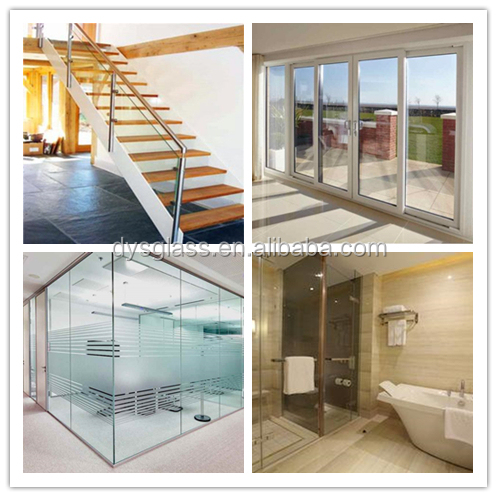High Safe And Heat Strengthened Clear  Pvb Laminated Glass For  Home And Building Needs