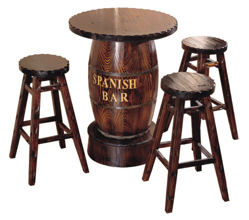 New product wooden barrel shape table chair for <strong>bar</strong>