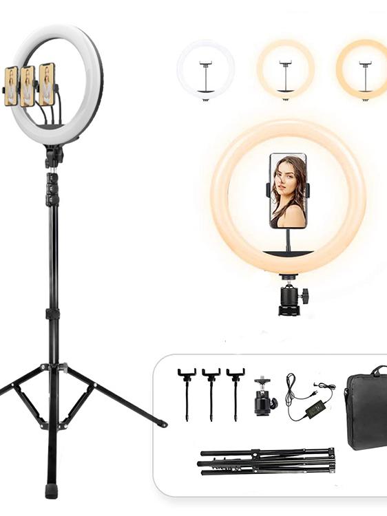 الوافدين الجدد المحمولة 68 سنتيمتر Selfie قابل للتعديل مصباح مصمم على شكل حلقة انفصال لايف حامل ترايبود غالق بلوتوث عصا