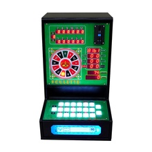 Mini Coin Operated Desktop LED Licht Bergmann Roulette Slot Game Machine te Koop