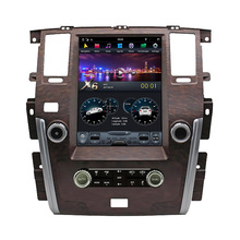 13.6 Inch Touch Screen Android Multimedia Stereo Radio Pioneer Auto Video Dvd-speler Voor Nissan Patrol Se Plus Houten Tesla-Stijl
