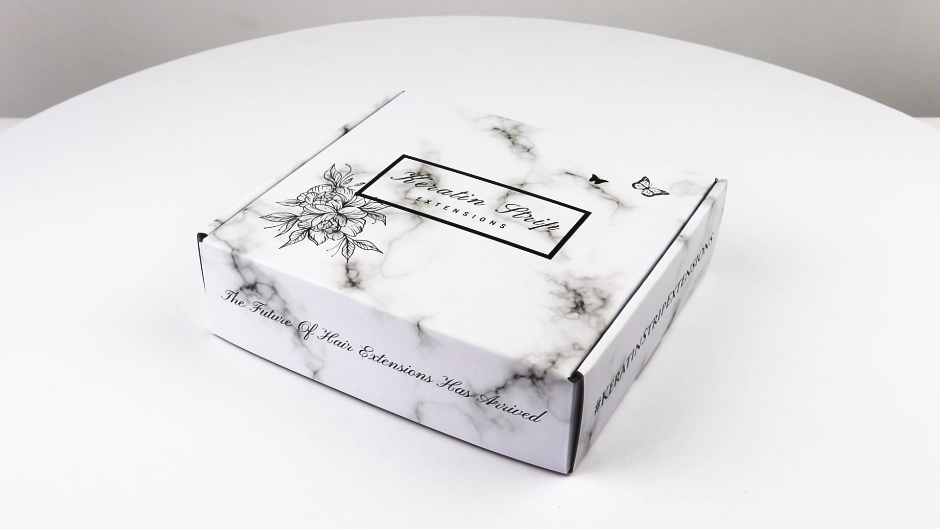 Marble Print Boxes Cardboard Corrugated Paper Mail Box For  Shipping