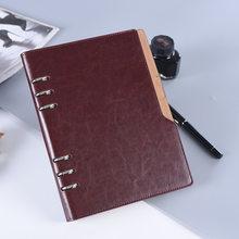 Папка-блокнот из искусственной кожи для бизнеса, офиса, A5, для путешествий, 2019, 2020, дневник-планер, спиральный блокнот(Китай)