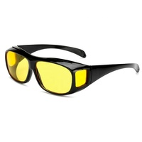 10655 Superhot Eyewear Wrap Around Goggles Driving Yellow Lens Night Vision Glasses