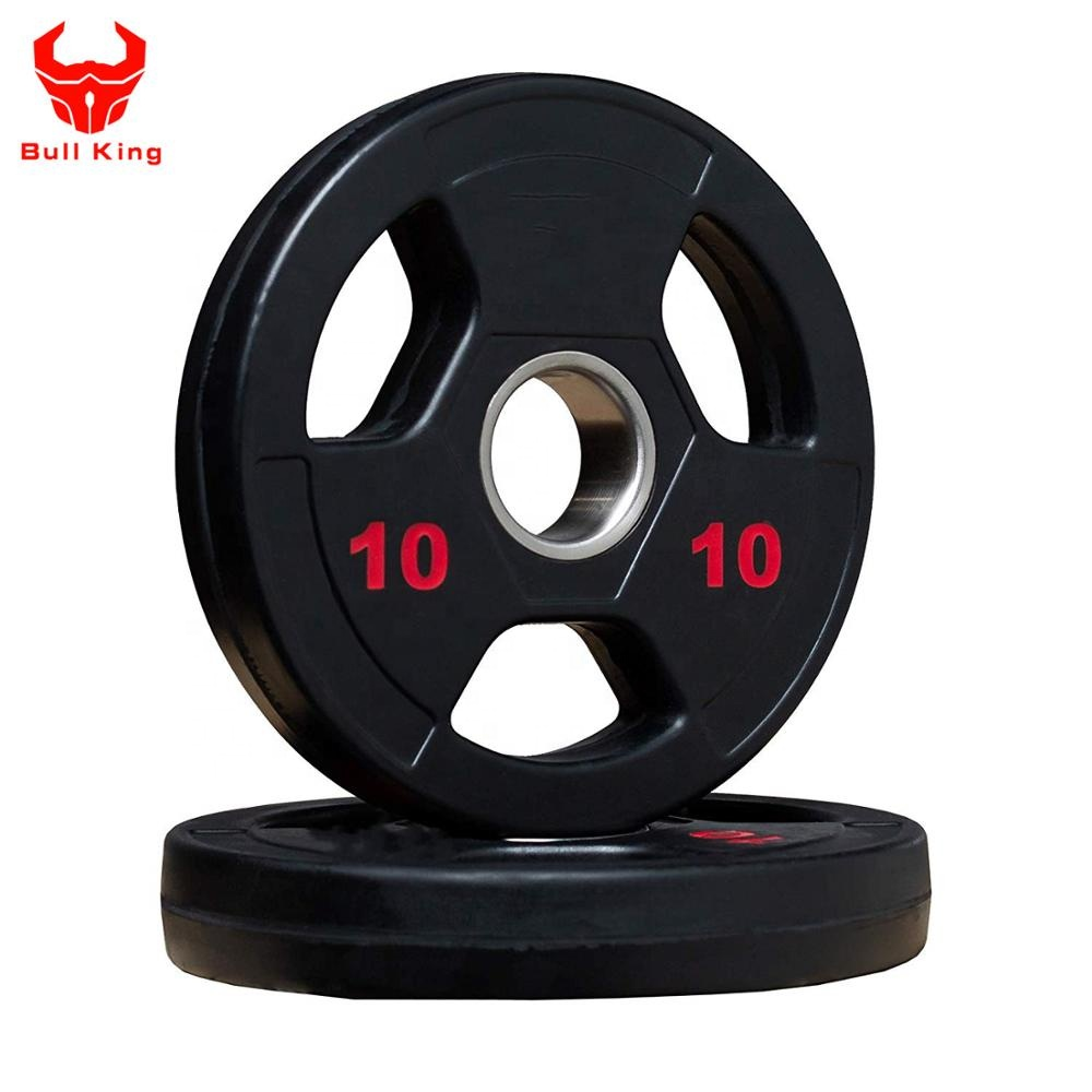 Rubber Coated Oly mpic Plates, Tri-Grip Oly mpic Barbell <strong>Weights</strong> Sold in Pairs and Sets