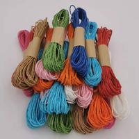 Paper Rope Paper Raffia Cord Craft Twine DIY Colorful Twisted Craft String Strap (Mix Color) 10M/12 Pcs