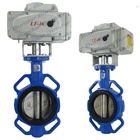 Bundor ANSI BS DIN JIS PN16 DN100 Motor Operated Wafer Butterfly Valve price list