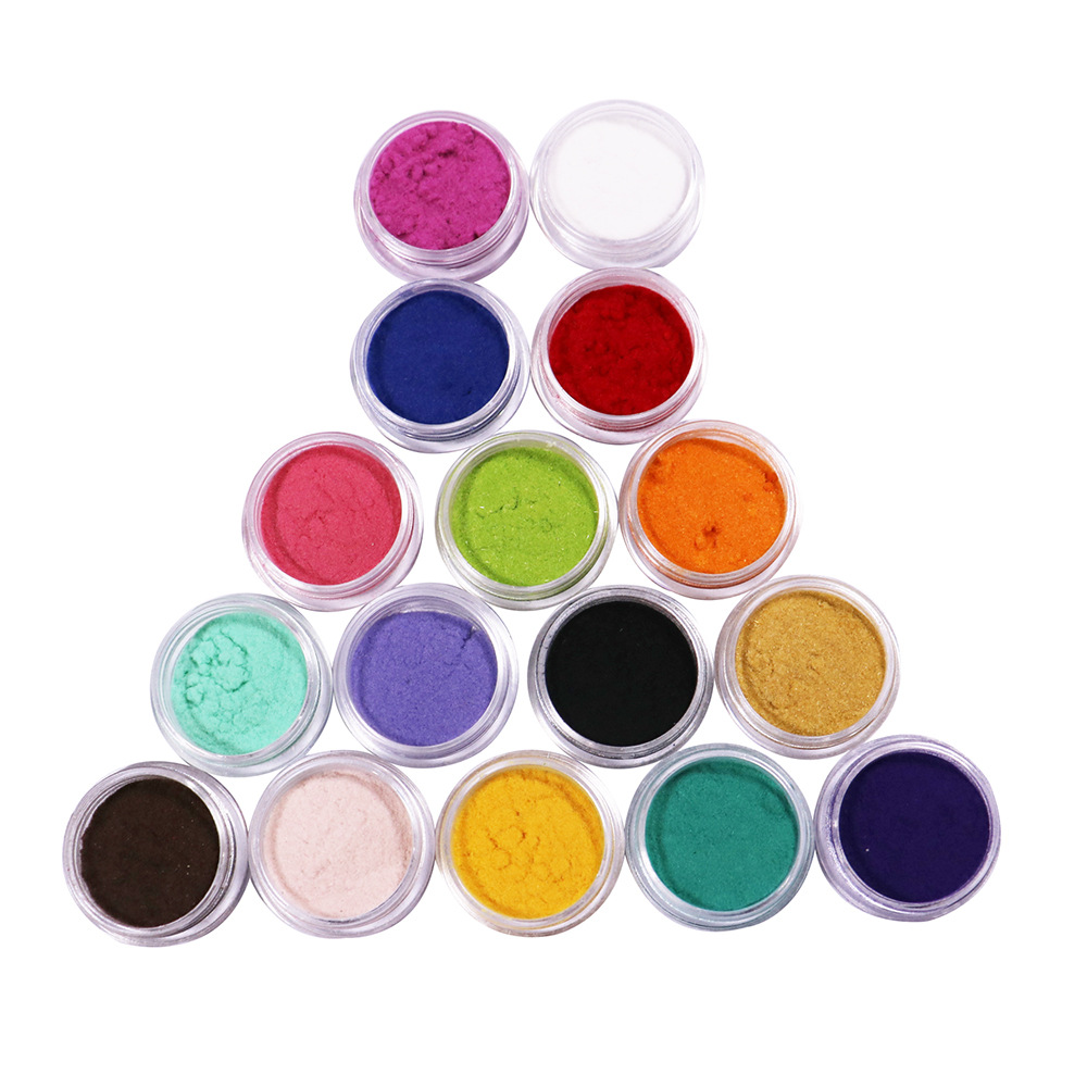 New Nail Art Supplies Dust Plush Powder 16 Colors Velvet Glitter Plush Nail Flocking Powder