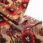 price china 96%polyester 4% spandex glitter floral print fabric for dress