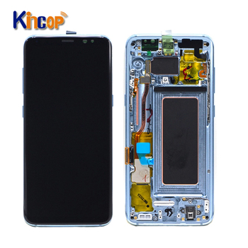 Mobilephonelcds Hot Selling For Samsung Galaxy S8 LCD Display Touch Screen Assembly Replacement For Samsung S8 lcd with frame