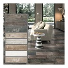 Bolande matt surface non-slip wood look porcelain tiles brown grey white indoor wooden look antique glazed tile