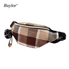 Поясная Сумка Buylor, поясная сумка на бедрах, поясная сумка, дорожная сумка для девушек, трендовая модная сумка на пояс, Повседневная сумка чер...(Китай)