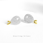 Dreamtop DTS083 latest 2010 new design fish shape earrings student girls sterling silver stud earring