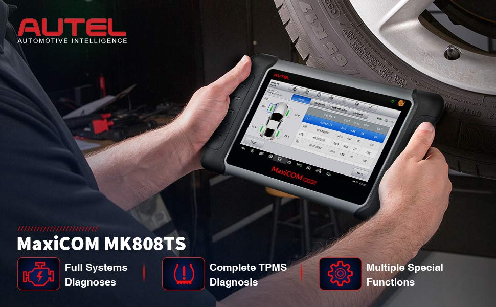 Best Multi Car TPMS Services Diagnostic Scanner Autel MaxiCOM MK808TS used together with MX sensor
