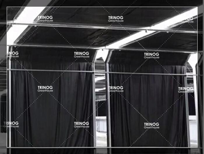 Trinog entwickelt kommerziellen auto licht entzug blackout gewächshaus für verkauf
