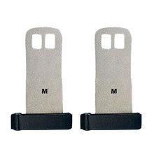 1 пара S M L рукоятка Синтетическая кожа Кроссфит гимнастическая защита ладоней перчатки для поднятия веса(Китай)