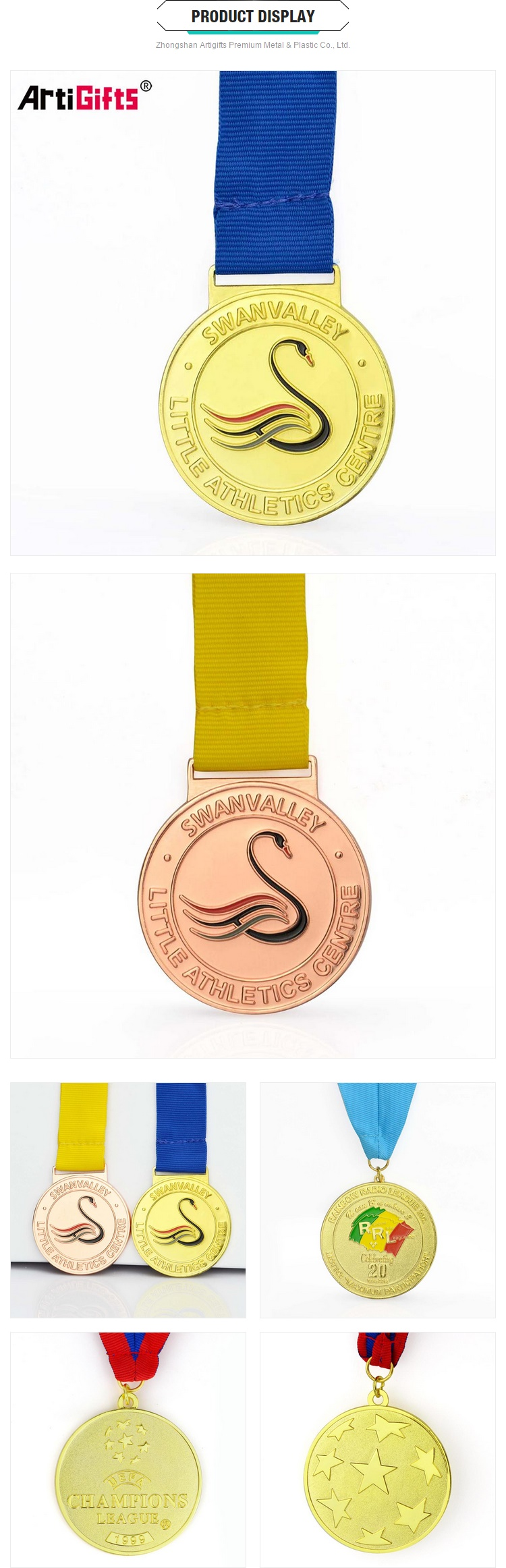 Customized 50mm Cheap Awards Round Embossed Logo Medal