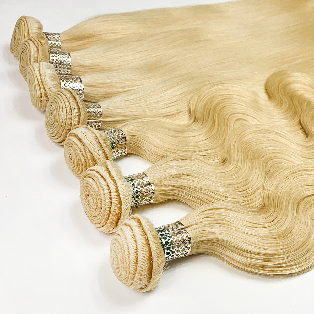 JCXBL Natural 10 grade blonde 613 human hair extension ,100% human hair blonde brazilian wigs,virgin cuticle aligned hair