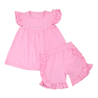 Wholesale 2020 baby clothes shirts and shorts girls boutique clothing sets Venlitines's Day girls outfits